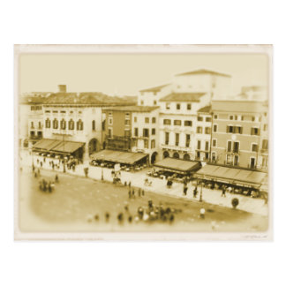 Cafe at Piazza Bra - Verona, Italy Postcard