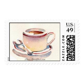 Cafe au lait by ParisBreakfast.com Postage