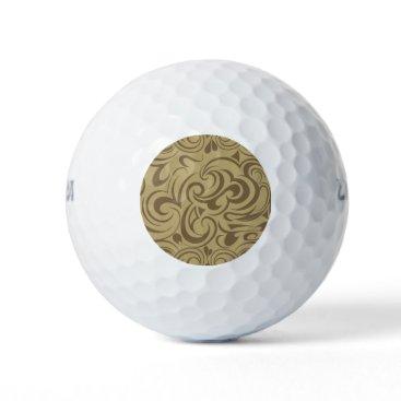 Beach Themed Café Au Lait Golf Balls