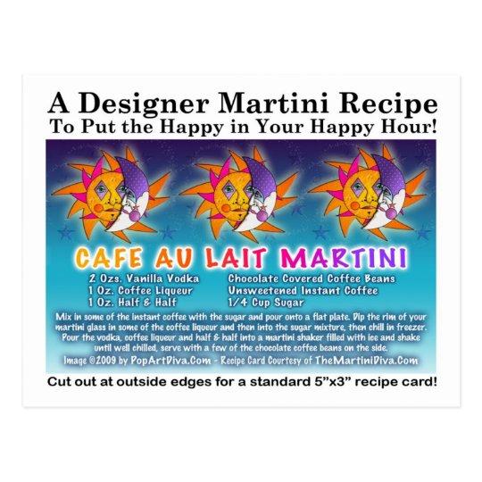 Cafe Au Lait Martini Recipe Postcard