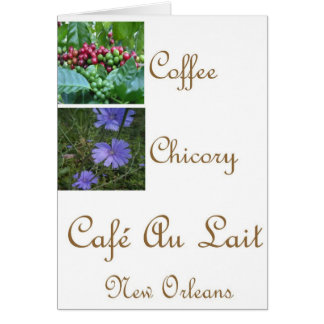 CAFE AU LAIT NEW ORLEANS COFFEE CHICORY CARD