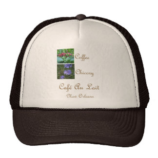 CAFE AU LAIT NEW ORLEANS COFFEE CHICORY MESH HATS