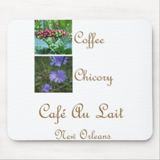 CAFE AU LAIT NEW ORLEANS COFFEE CHICORY MOUSE PAD