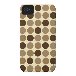 Cafe Au Lait Polka Dot iPhone 4 Barely There Case