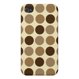 Cafe Au Lait Polka Dot iPhone 4 Speck Case Case For iPhone 4