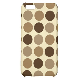Cafe Au Lait Polka Dot iPhone 4 Speck Case Case For iPhone 5C