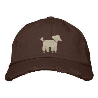 Cafe Au Lait Poodle Dog Logo Embroidered Baseball Hat