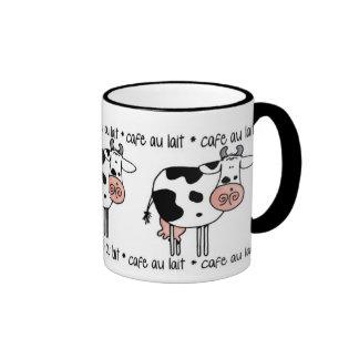 cafe au lait ringer coffee mug