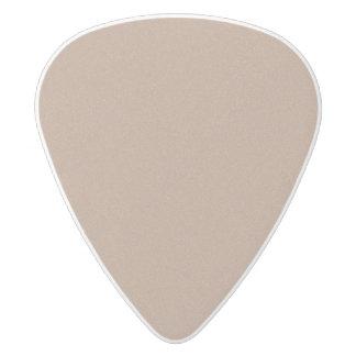 Cafe au Lait Star Dust White Delrin Guitar Pick