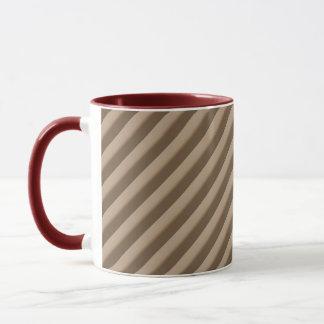Cafe Au Lait Stipes Ringer Mug 15 oz