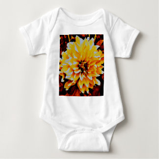 Cafe au Lait. yellow and gold tones Baby Bodysuit