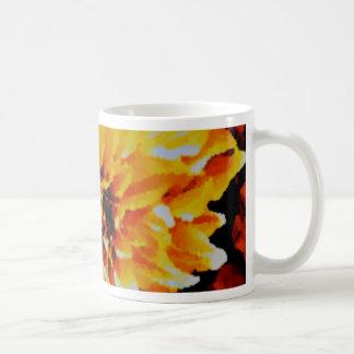 Cafe au Lait. yellow and gold tones Coffee Mug