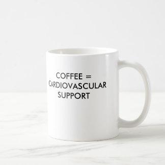 CAFÉ = AYUDA CARDIOVASCULAR TAZA BÁSICA BLANCA