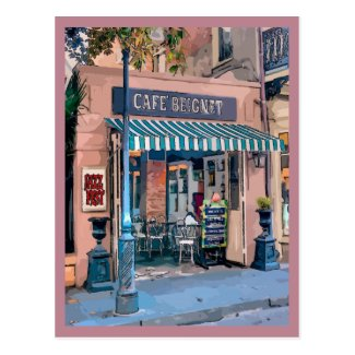 Cafe Beignet Coffee Shop French Quarter Postcard