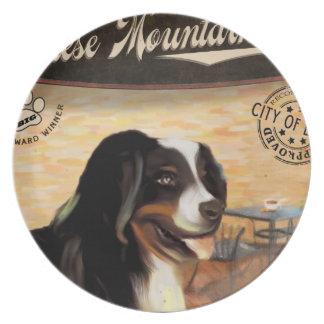 Cafe Bernese Mountain Dog Plate