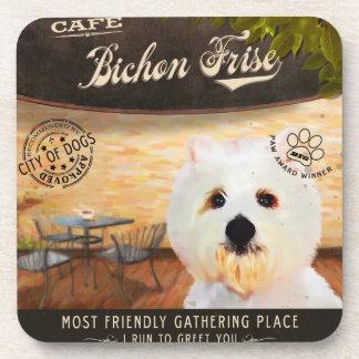 Cafe Bichon Frise Coaster