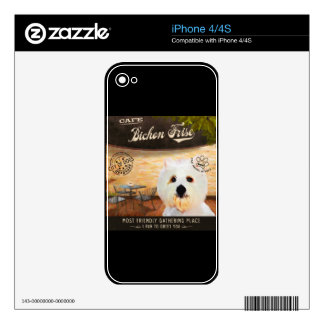 Cafe Bichon Frise iPhone 4 Decals