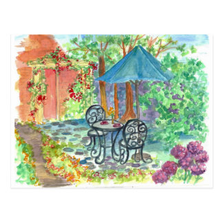 Cafe Bistro Set Postcard