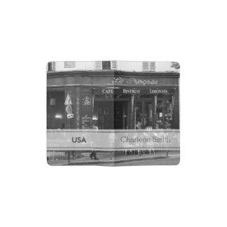Café blanco y negro en Montmartre, París Libreta De Bolsillo Moleskine