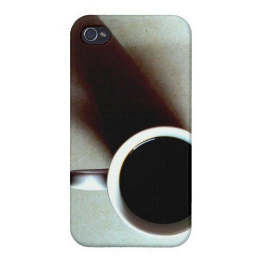 Café blanco y negro iPhone 4 fundas