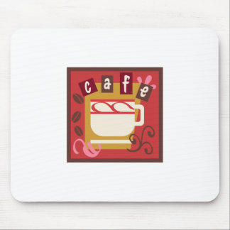 CAFE BLOCK MOUSE PAD