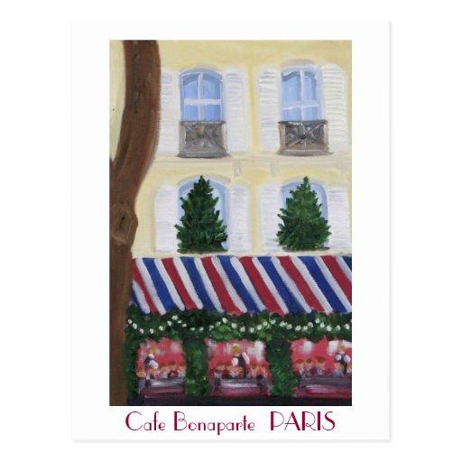 Cafe Bonaparte  PARIS Postcard