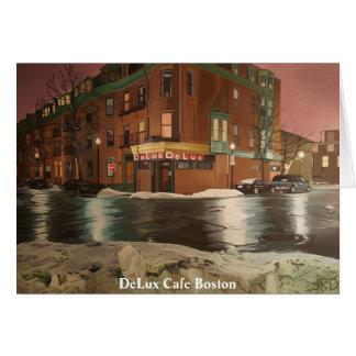 Café Boston de DeLux Tarjeta De Felicitación