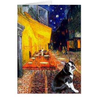 Café - Boston Terrier #4 Felicitación