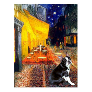Café - Boston Terrier #4 Tarjeta Postal