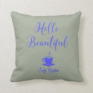 Café Boston Throw Pillow