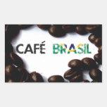 Café Brasil Pegatina Rectangular