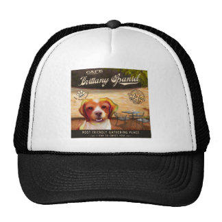 Cafe Brittany Spaniel Trucker Hat