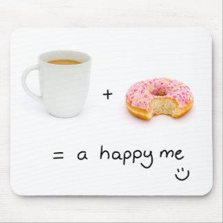 café+buñuelo = un feliz yo mousepad