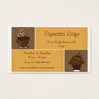 Cafe Business Card