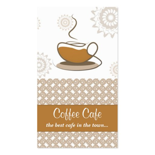cafe business card (front side)
