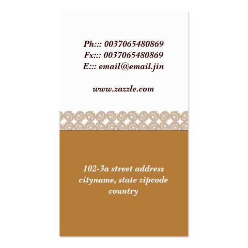 cafe business card (back side)