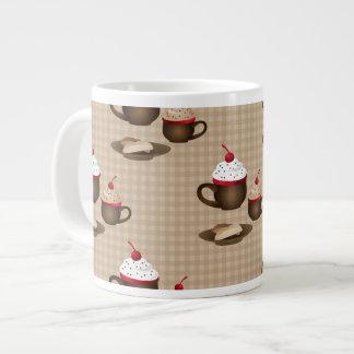 Café, cacao caliente, postre taza grande