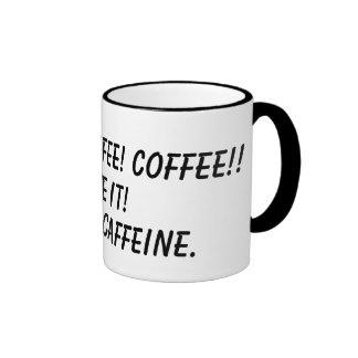¡CAFÉ! ¡CAFÉ! ¡CAFÉ!! ¡, DÉLO! , HMMM, CAFFE… TAZA DE DOS COLORES