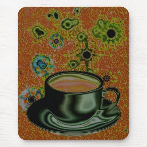 Café/cafeína/drogadicto de Java Alfombrilla De Ratones