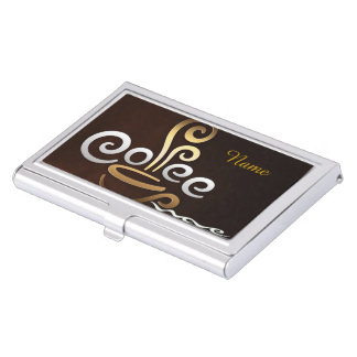 Café Caja De Tarjetas De Negocios