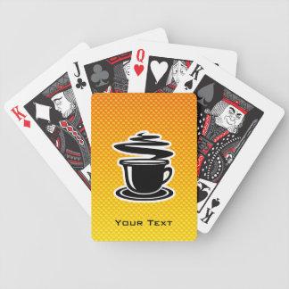 Café caliente; Amarillo-naranja Baraja Cartas De Poker