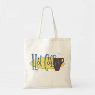 Café caliente bolsa tela barata