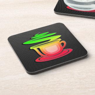 Café caliente liso posavaso