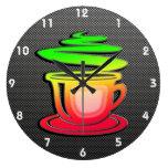 Café caliente liso relojes