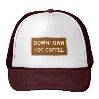 Café caliente, marcador del camino, Mississippi, Gorros Bordados