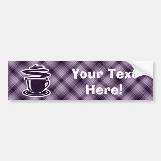 Café caliente púrpura pegatina para auto