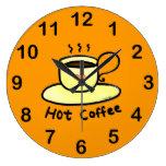 café caliente reloj