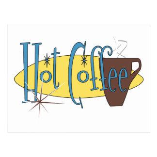 Café caliente postales
