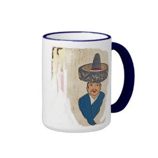 ¡café caliente! taza de dos colores