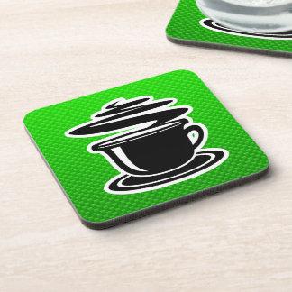 Café caliente; Verde Posavasos De Bebida